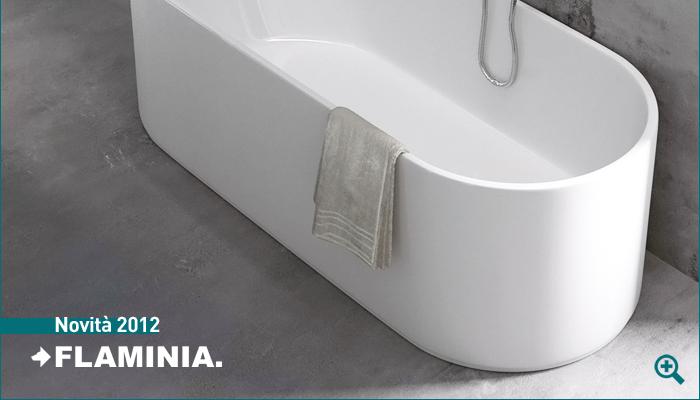Vasca Da Bagno Flaminia : Oval vasca da bagno in pietraluce di flaminia
