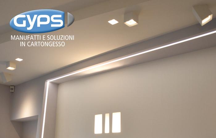Plafoniera A Parete Per Interni : La soluzione in cartongesso per lilluminazione dinterni: gyps light