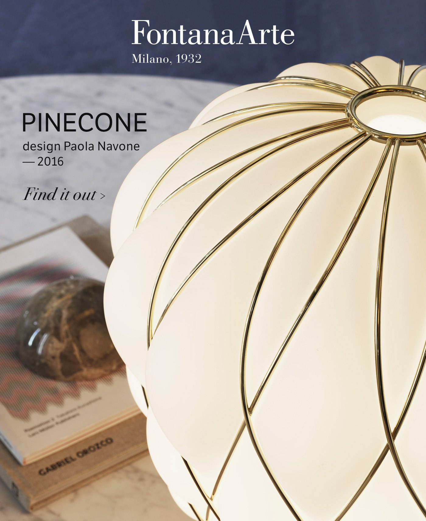 FontanaArte: Pinecone blown glass lamps